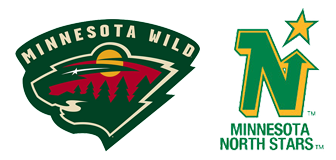 Minnesota Wilds and North Star Logos